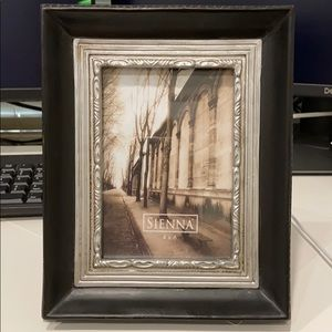 Beautiful Black & Silver Picture Frame 4X6